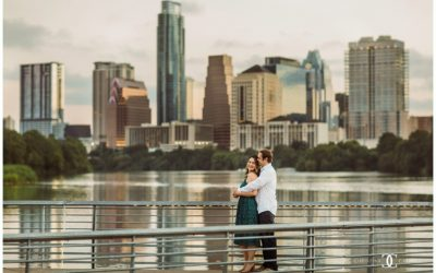 Stephani & Aidan's Downtown Austin Engagement Session