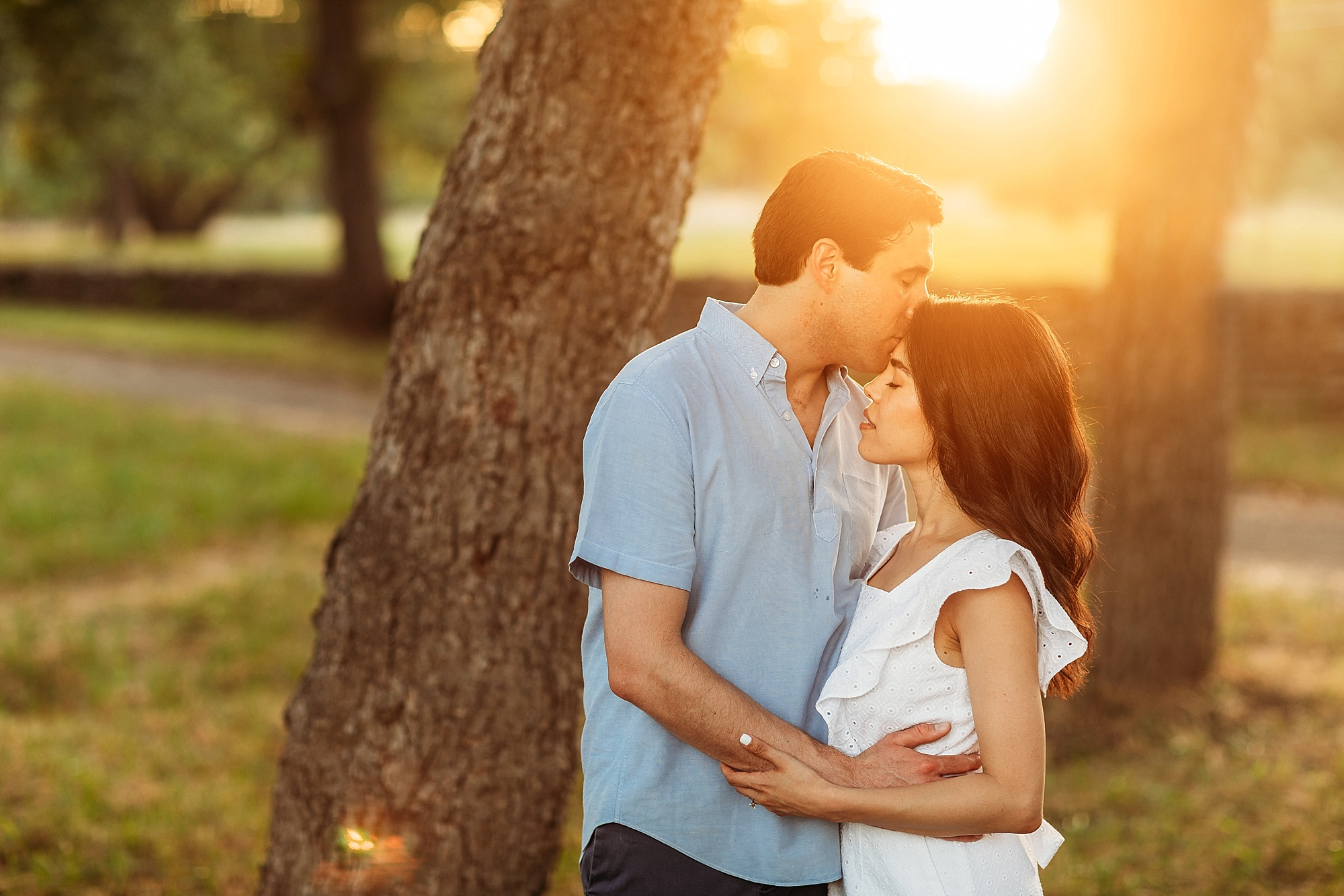 Jackie & Brooks' Cypress Falls Engagement Session